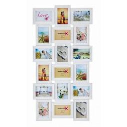 Bilderrahmen Vanessa, 52x102,5x2,3cm - Weiß, ROMANTIK / LANDHAUS, Papier/Kunststoff (52/102,5/2,3cm) - Mömax modern living