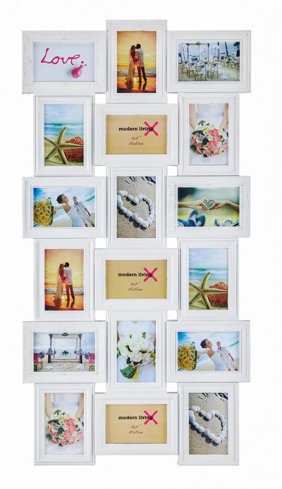 Okvir Za Slike Vanessa - bela, Romantika, papir/umetna masa (52/102,5/2,3cm) - Mömax modern living