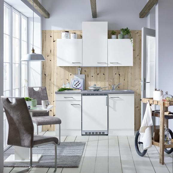 Küchenblock Neo Weiß - Weiß, MODERN, Holzwerkstoff (150cm)