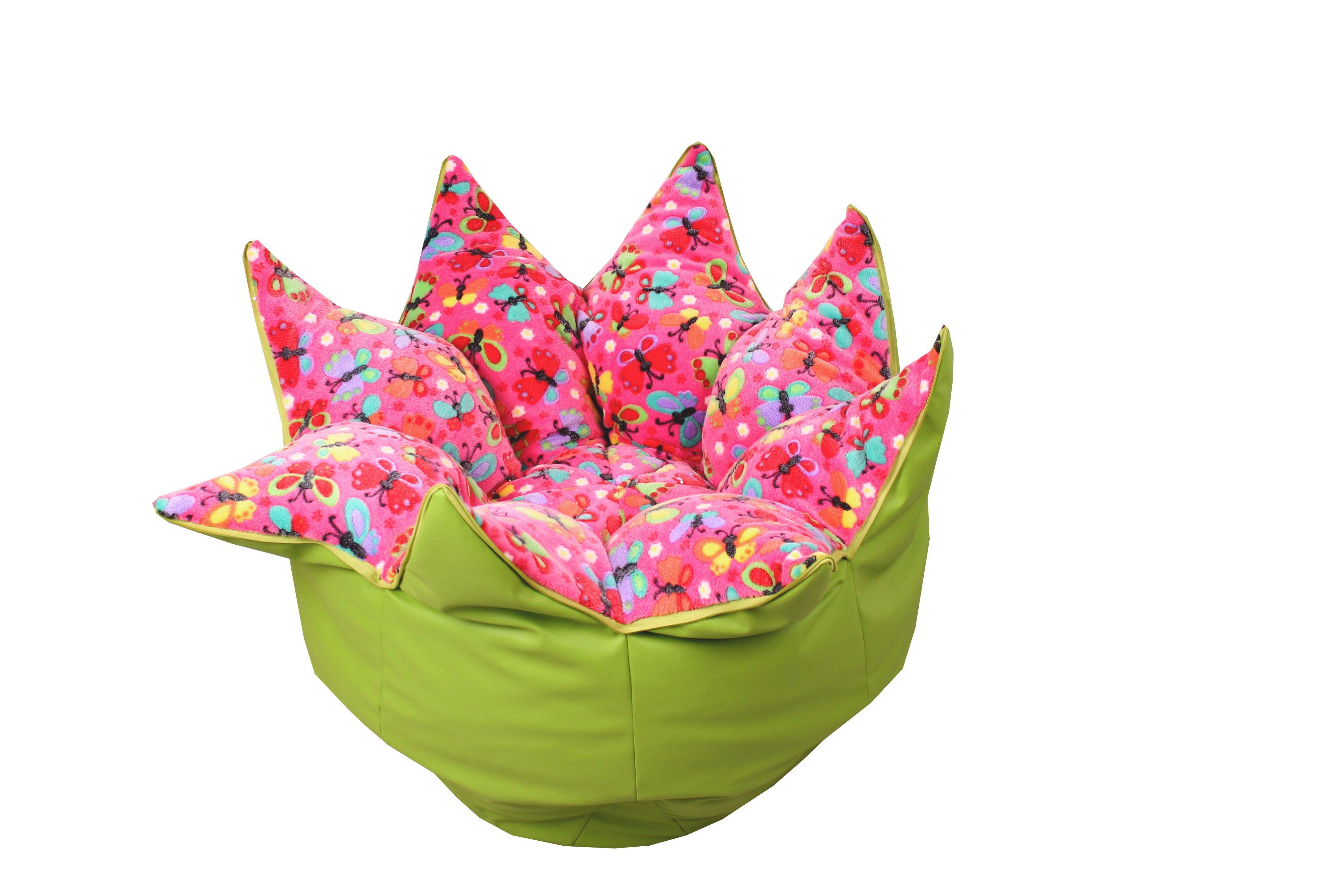 Sitzsack in Rosa/grün - Rosa/Grün, Textil (70/90/70cm) - MODERN LIVING