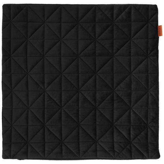 Kissenhülle Mary aus Samt ca. 45x45cm - Schwarz, MODERN, Textil (45/45cm) - Mömax modern living