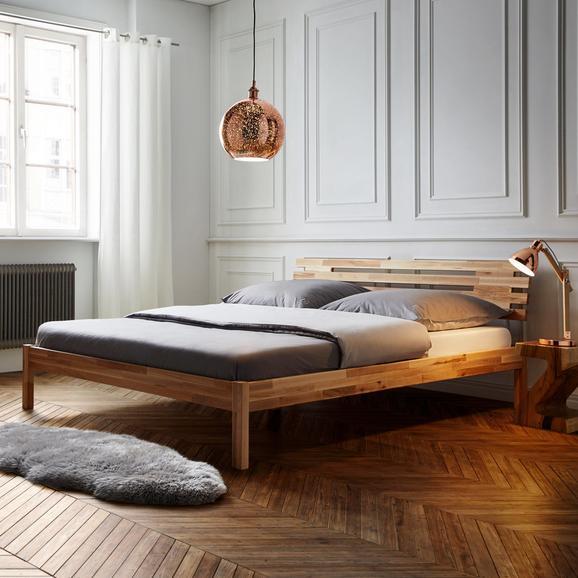 Futonbett Ludwig 180x200cm - Buchefarben, MODERN, Holz (186/76,5/216cm) - Modern Living
