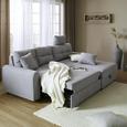 Sjedeća Garnitura Natalie - siva/crna, Modern, tekstil/plastika (232/98/153cm) - Modern Living