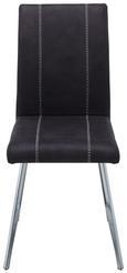 Stuhl in Grau - Chromfarben/Weiß, MODERN, Textil/Metall (43/93/56cm) - MODERN LIVING