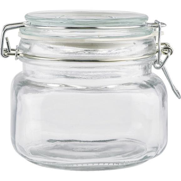Einmachglas Nele aus Glas ca. 500ml - Klar, Glas/Metall (11/10cm) - Mömax modern living