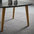 Couchtisch Kimi ca.90x60cm - Buchefarben/Grau, MODERN, Holz/Metall (60/90/44,5cm) - Bessagi Home