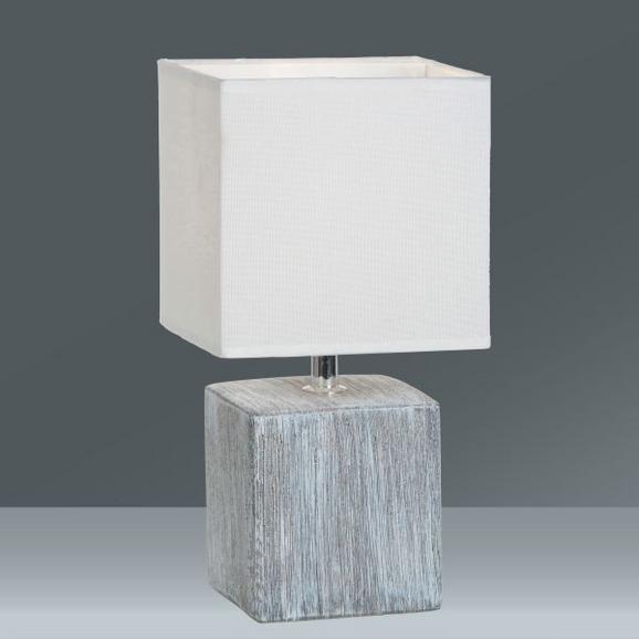 Tischleuchte Wanda, max. 40 Watt - Weiß/Grau, Keramik/Textil (15,5/28cm) - MÖMAX modern living
