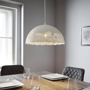 Pendelleuchte Stanka - Weiß, MODERN, Metall (40/120cm) - Modern Living