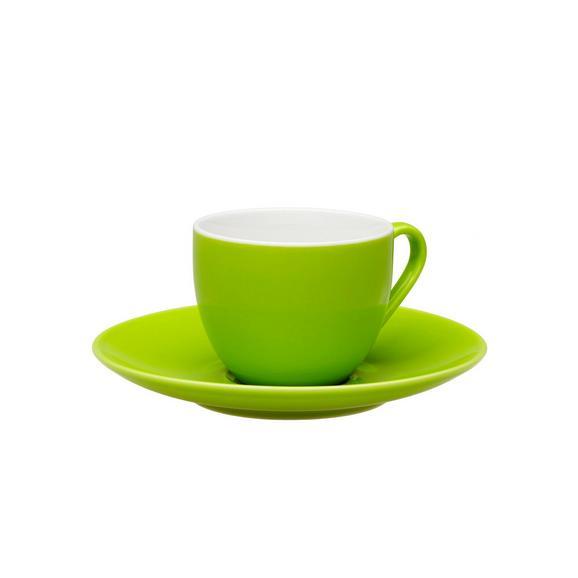 Espressotasse mit Untertasse Sandy in Grün aus Keramik - Grün, KONVENTIONELL, Keramik (6,4/5cm) - MÖMAX modern living