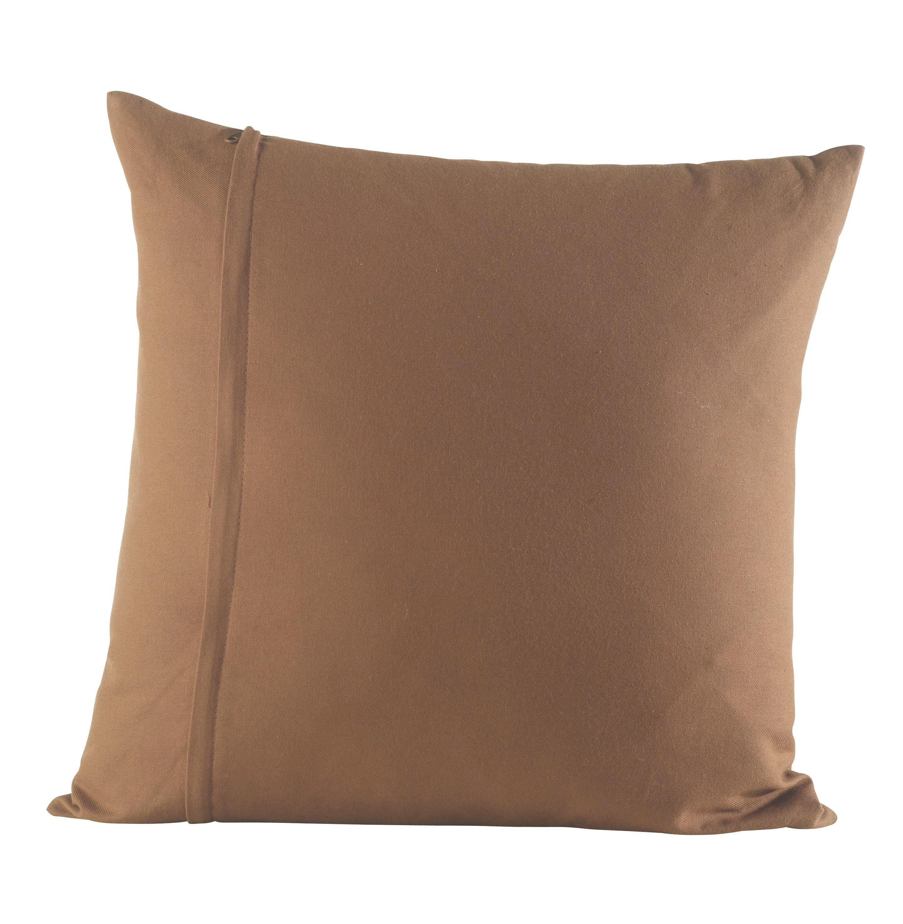 Díszpárna Zippmex - barna, textil (50/50cm) - BASED