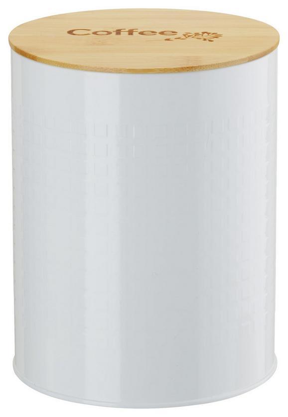 Vorratsdose Stella Weiß - Naturfarben/Weiß, ROMANTIK / LANDHAUS, Holz/Metall (13,5/17,5cm) - Zandiara