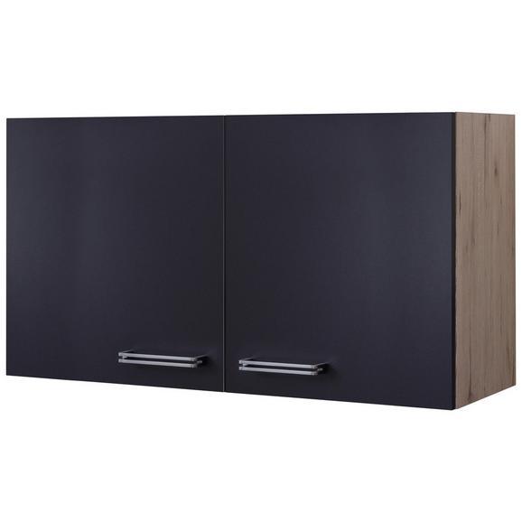 Corp Suspendat De Bucătărie Milano - culoare inox/culoare lemn stejar, Modern, compozit lemnos/metal (100/54/32cm)