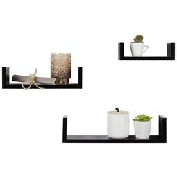 Wandboardset Schwarz, 3-teilig - Schwarz, Holzwerkstoff (42/32/22/10/10/8,5/7cm) - Modern Living