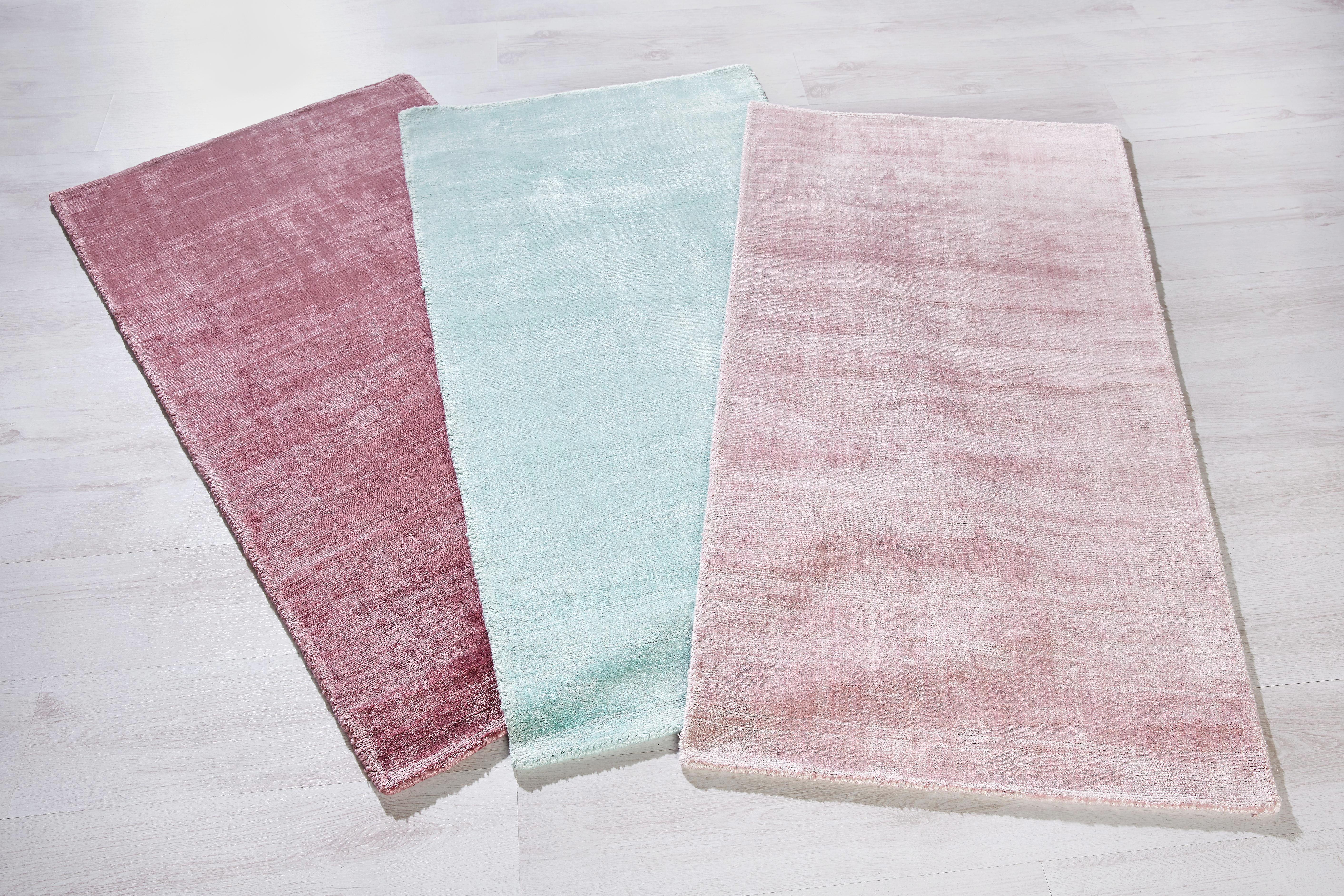 Webteppich Andrea in Rosa, ca. 70x140cm - Hellrosa, Textil (70/140cm) - MÖMAX modern living