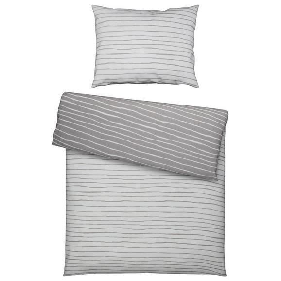Bettwäsche Nadja 140x200cm - Türkis/Silberfarben, Textil - Based