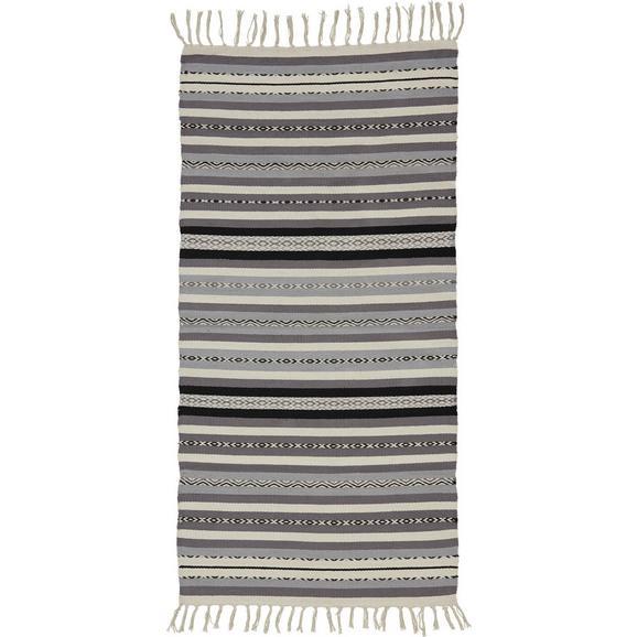 Teppich in Naturfarben/Grau ca.70x140cm 'India' - Dunkelgrau/Hellgrau, MODERN, Textil (70/140cm) - Bessagi Home