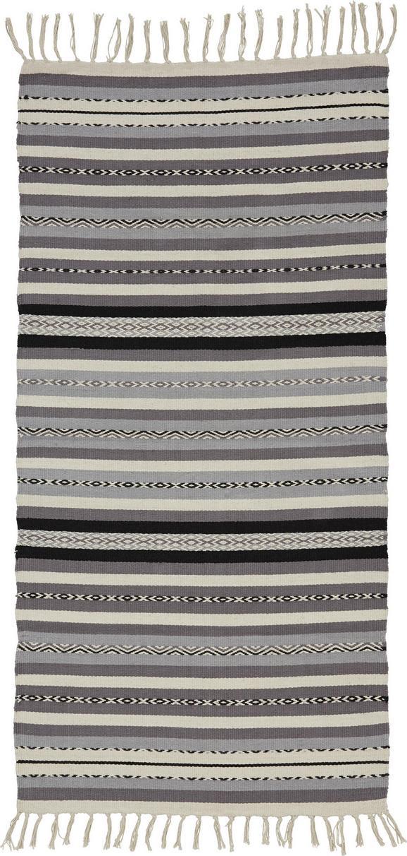 Teppich India 70x140cm - Dunkelgrau/Hellgrau, MODERN, Textil (70/140cm) - MÖMAX modern living
