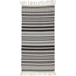 Teppich India ca.70x140cm - Dunkelgrau/Hellgrau, MODERN, Textil (70/140cm) - Mömax modern living