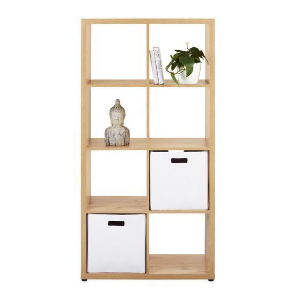 Raumteiler in Wotaneiche - Eichefarben, MODERN, Holzwerkstoff/Kunststoff (76/147/34cm) - Modern Living