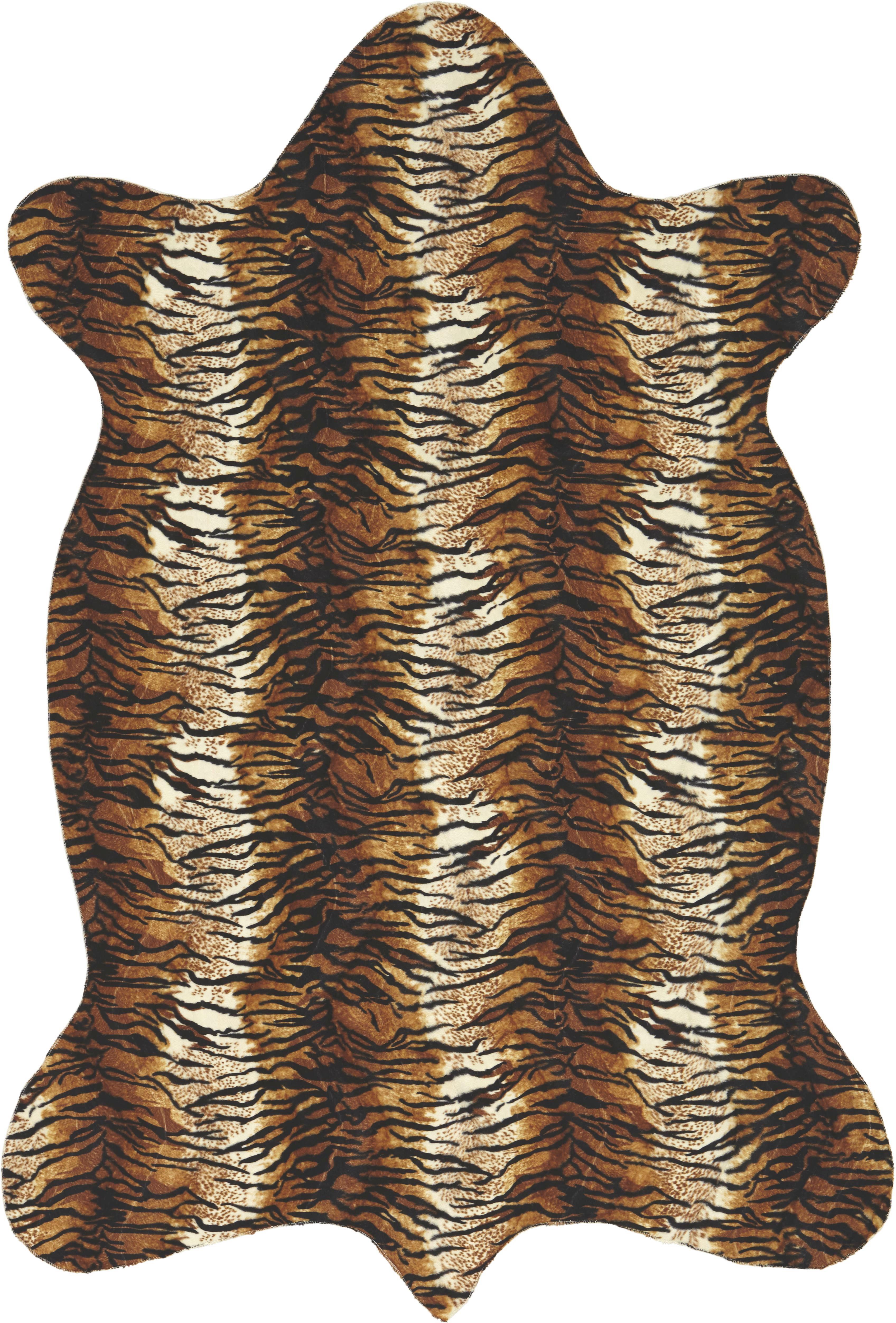 Szőnyeg Animal Tiger - barna/fehér, Lifestyle, textil (120/180cm) - MÖMAX modern living