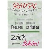 Postkarte Statements Raupe - Multicolor, Papier (10,5/14,8cm)
