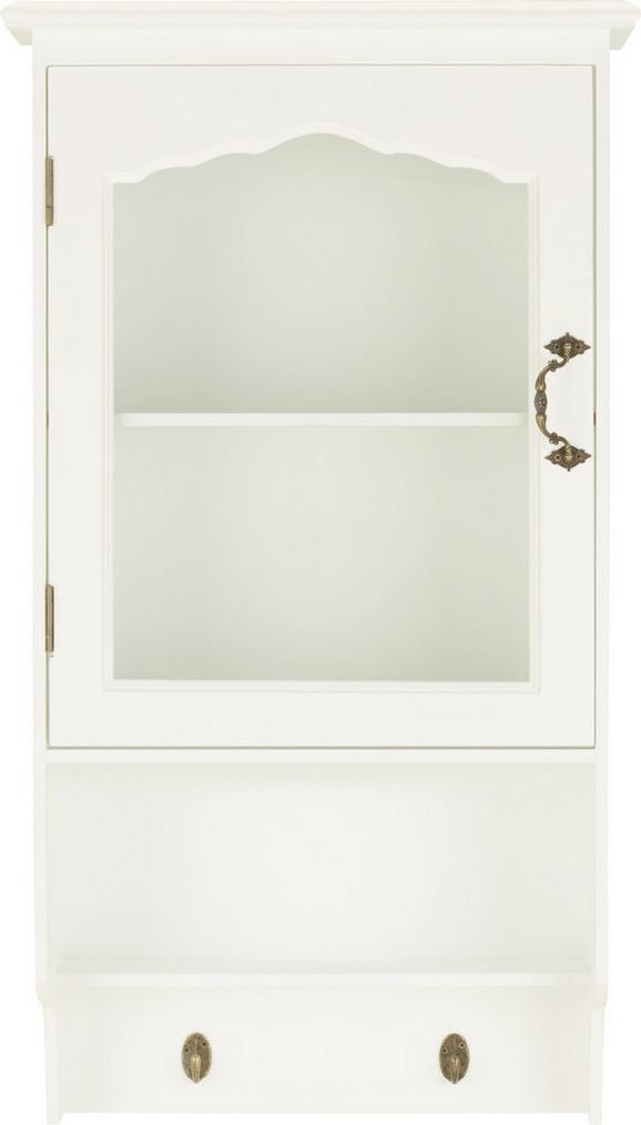 Hängeschrank in Weiß - Schwarz/Weiß, Glas/Holzwerkstoff (43,5/78/19,5cm) - MÖMAX modern living