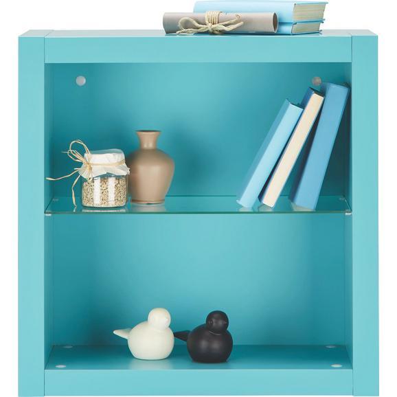 Wandregal Hellblau - Hellblau, MODERN, Glas/Holzwerkstoff (60/60/26cm) - Mömax modern living