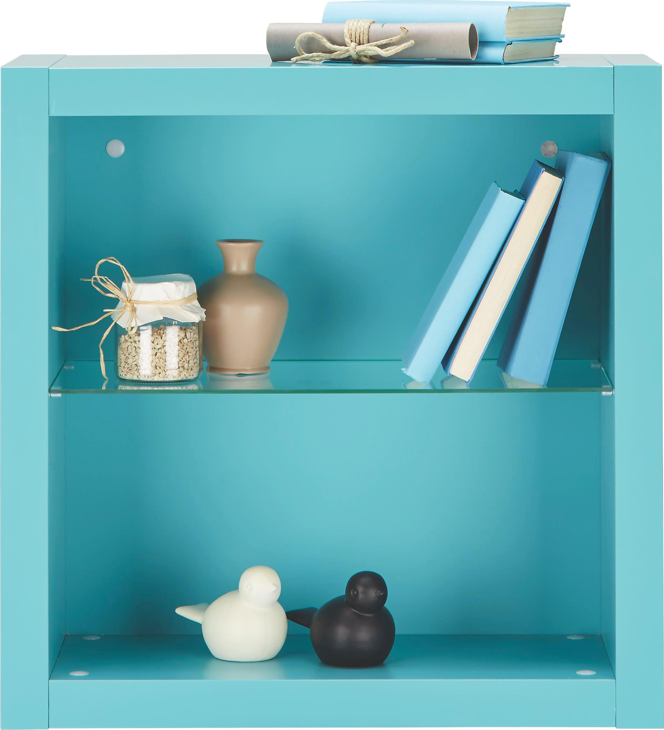 Wandregal in Hellblau - Hellblau, MODERN, Glas/Holzwerkstoff (60/60/26cm) - MÖMAX modern living