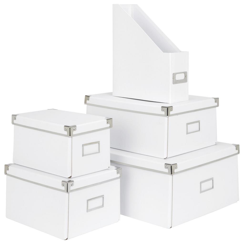 Aufbewahrungsbox Lorenz in Weiß, Faltbar