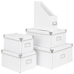 Aufbewahrungsbox Lorenz in Weiß, Faltbar - Weiß, Karton/Metall (34/24,5/14,5cm) - Mömax modern living