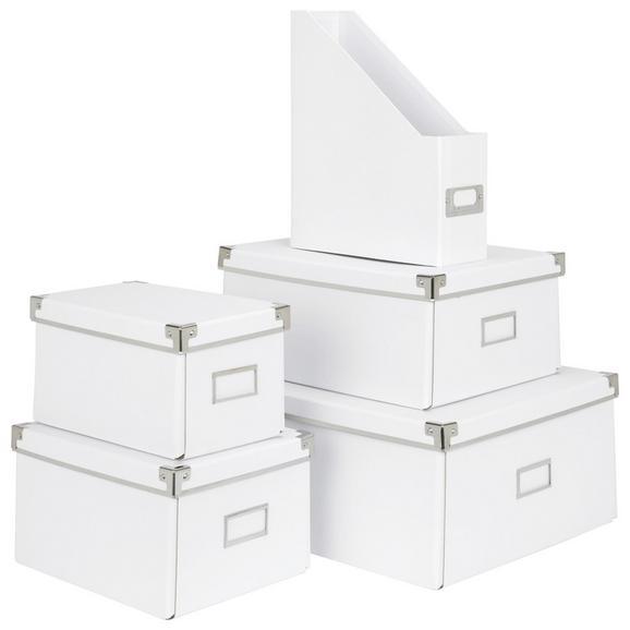 Aufbewahrungsbox Lorenz Weiß, Faltbar - Weiß, Karton/Metall (34/24,5/14,5cm) - Mömax modern living