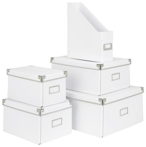 Škatla Za Shranjevanje Lorenz - A4 -ext- - bela, kovina/karton (34/24,5/14,5cm) - Mömax modern living
