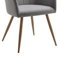 Armlehnstuhl Jule - Hellgrau, MODERN, Textil/Metall (57/92,5/46cm) - Modern Living