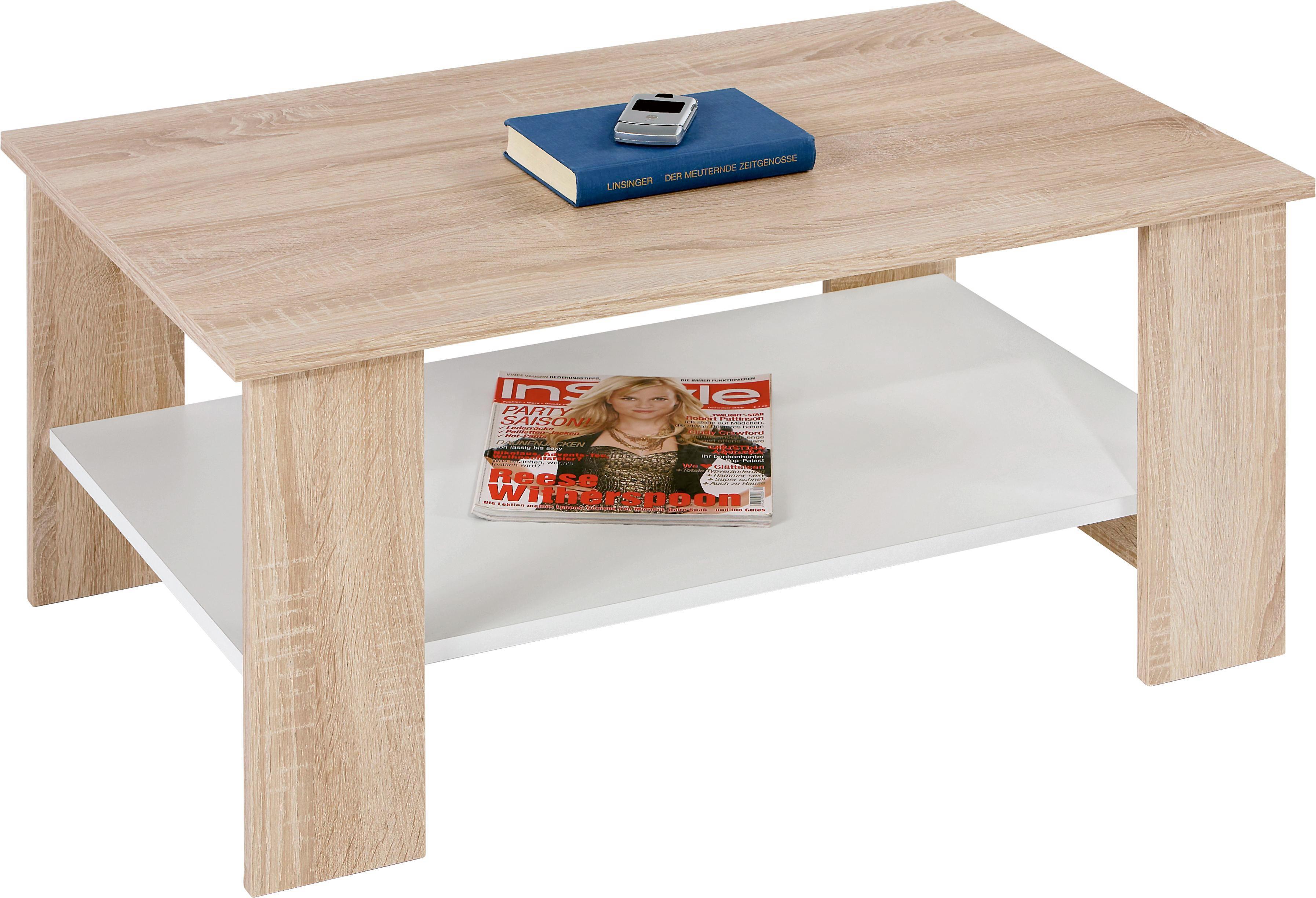Dohányzóasztal Paolo - Sonoma tölgy/tölgy színű, konvencionális, fa/faanyagok (90/41/55cm)