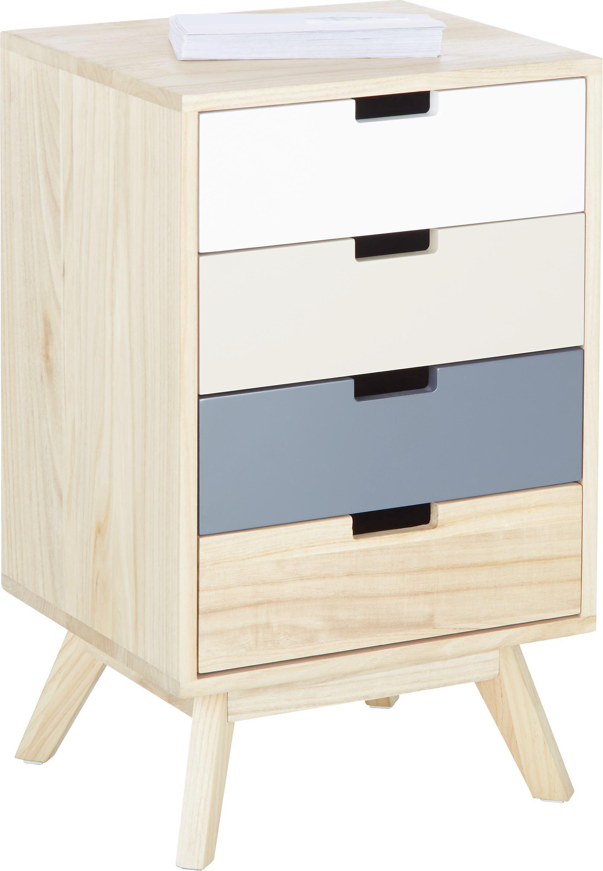 Kommode aus Echtholz - Creme/Naturfarben, Holz/Holzwerkstoff (40/65,5/36cm) - MÖMAX modern living