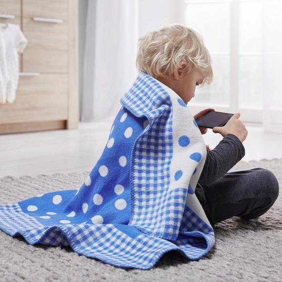 Babydecke Ibena in Blau - Blau, MODERN, Textil (75x100cm) - Ibena-LÖSCHEN