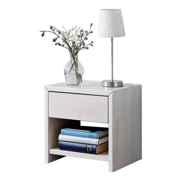 NACHTKÄSTCHEN JULIA - Weiß, Design, Holz (40/40/40cm)