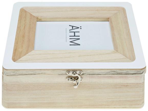 Aufbewahrungsbox Roman Naturfarben/Weiß - Naturfarben/Weiß, ROMANTIK / LANDHAUS, Holz (24/20/8cm)