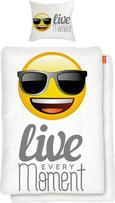 Bettwäsche Emoji Live, ca. 135x200cm - Gelb/Weiß, LIFESTYLE, Textil - MÖMAX modern living