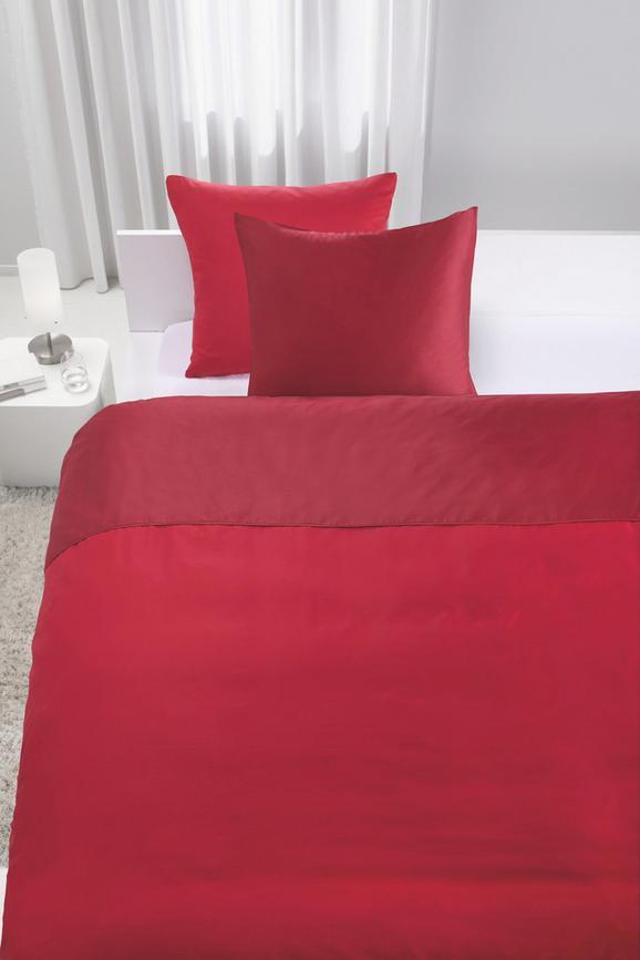 Bettwäsche Belinda ca. 200x200cm - Rot/Dunkelrot, Textil (200/200cm) - PREMIUM LIVING