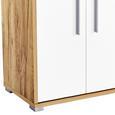 Dulap Pentru Acte Profi - alb/culoare lemn stejar, Modern, compozit lemnos (75/185/35cm) - Ombra