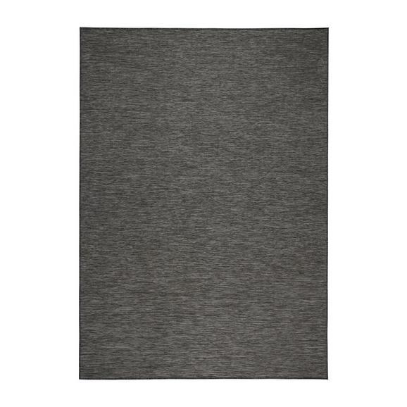 Flachwebeteppich Medina Grau /Schwarz 120x170cm - Schwarz/Grau, MODERN, Textil (120/170cm) - Mömax modern living