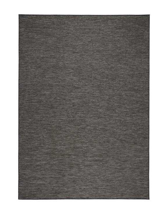 Flachwebeteppich Medina Grau/Schwarz 80x150cm - Schwarz/Grau, MODERN, Textil (80/150cm) - Mömax modern living