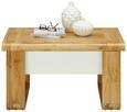 Couchtisch Weiß/Eiche - Eichefarben/Weiß, MODERN, Holzwerkstoff/Metall (80/45-71/60cm) - Modern Living