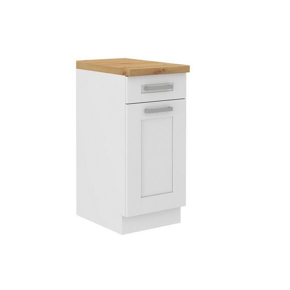 Dulap De Bucătărie Luisa - alb, Konventionell, compozit lemnos (40/86/60cm)