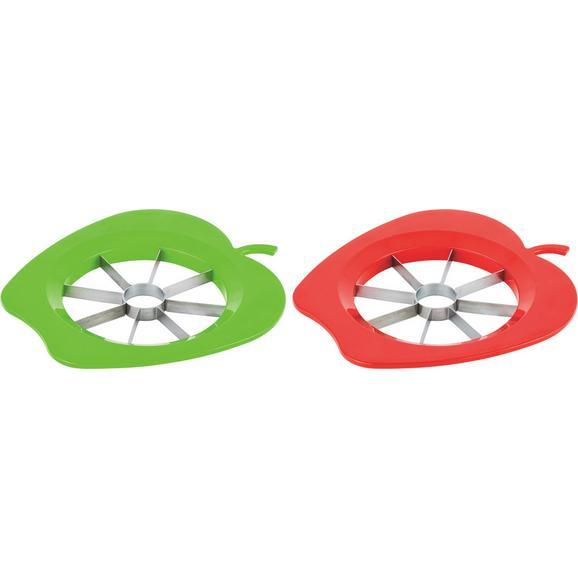 Rezalnik Za Jabolka Apple - rdeča/zelena, Konvencionalno, kovina/umetna masa (22cm)