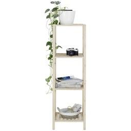 Regal aus Bambus - Naturfarben, MODERN, Holz (35/115/35cm) - Modern Living