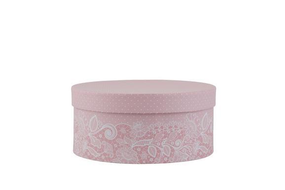 Darilna Škatla Lilette - M - roza/bela, Romantika, karton (16/8,5cm) - Mömax modern living