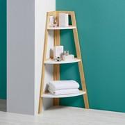 Badezimmerregal Mirella - Braun/Weiß, MODERN, Holz (38/96/38cm) - Modern Living