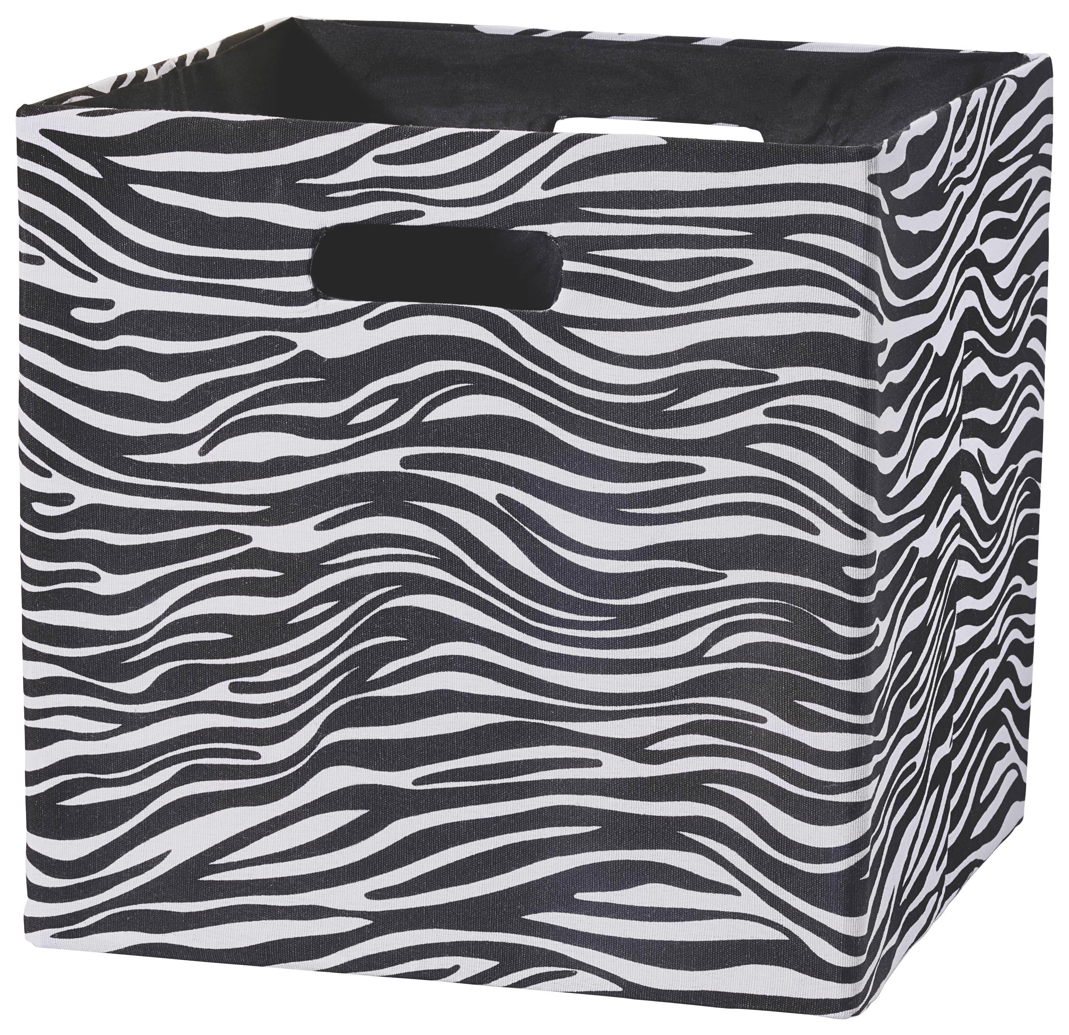 Tárolódoboz Bobby - fekete/fehér, modern, textil (33/33/32cm) - MÖMAX modern living